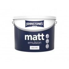 Johnstones Vinyl Emulsion Paint 10L Brilliant White (Matt)