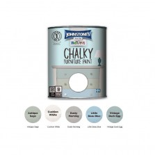 Johnstones Revive Chalky Furniture Paint 750ml Cushion White