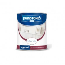 Johnstones Eggshell Paint 1.25L Brilliant White