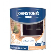 Johnstones Weatherguard Exterior Undercoat 750ml Brilliant White