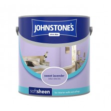 Johnstones Vinyl Emulsion Paint 2.5L Sweet Lavender (Soft Sheen)