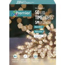 Christmas Battery Operated Lights (50) Warm White - Clear Cable