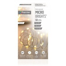 Christmas Pinwire Lights (50 Pack) Warm White - Silver Wire
