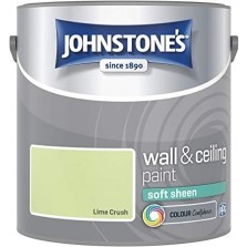 Johnstones Vinyl Emulsion Paint 2.5L Lime Crush Soft Sheen