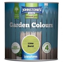 Johnstones Garden Colours Paint 1L Lime Burst