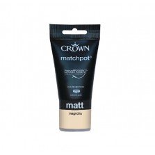 Crown Emulsion Paint Tester Pot 40ml Magnolia (Matt)