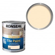 Ronseal One Coat Tile Paint 750ml Satin Magnolia