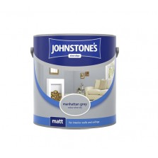 Johnstones Vinyl Emulsion Paint 2.5L Manhattan Grey (Matt)