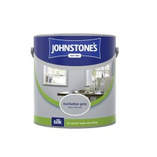 Johnstones Vinyl Emulsion Paint 2.5L Manhattan Grey (Silk)