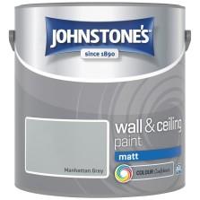 Johnstones Vinyl Emulsion Paint 2.5L Manhattan Grey (Matt)