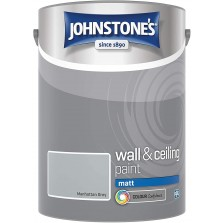 Johnstones Vinyl Emulsion Paint 5L Manhattan Grey (Matt)