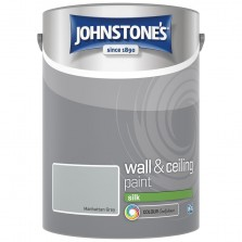 Johnstones Vinyl Emulsion Paint 5L Manhattan Grey Silk