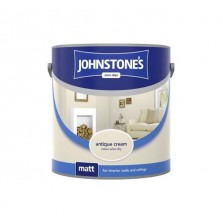 Johnstones Vinyl Emulsion Paint 2.5L Antique Cream (Matt)