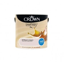 Crown Breathe Easy Emulsion Paint 2.5L Antique Cream (Matt)