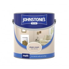 Johnstones Vinyl Emulsion Paint 2.5L Classic Cream (Matt)