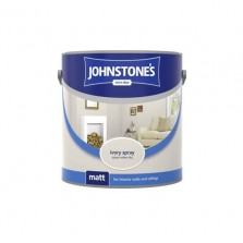 Johnstones Vinyl Emulsion Paint 2.5L Ivory Spray (Matt)
