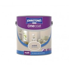 Johnstones One Coat Emulsion Paint 2.5L Sea Shell (Matt)
