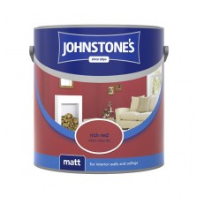 Johnstones Vinyl Emulsion Paint 2.5L Rich Red (Matt)