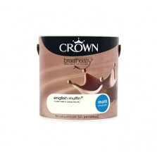 Crown Breathe Easy Emulsion Paint 2.5L English Muffin (Matt)