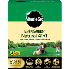 Evergreen Natural 4 in 1 Weed, Feed & Moss Killer 85m2