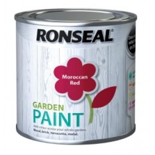 Ronseal Garden Paint 250ml Moroccan Red