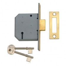 Union 2177 3 Lever Satin Mortice Deadlock 2.5""
