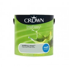 Crown Breathe Easy Emulsion Paint 2.5L Potting Shed (Matt)
