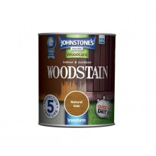 Johnstones Indoor & Outdoor Wood Stain 2.5L Natural Oak