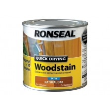 Ronseal Quick Dry Woodstain Satin 250ml Natural Oak