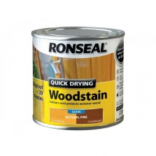 Ronseal Quick Drying Wood Stain Satin 250ml Natural Pine