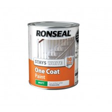 Ronseal Stays White One Coat Non Drip Matt Paint 750ml White