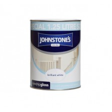 Johnstones Non Drip Gloss Paint 1.25L Brilliant White