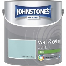 Johnstones Vinyl Emulsion Paint 2.5L New Duck Egg Silk