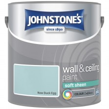 Johnstones Vinyl Emulsion Paint 2.5L New Duck Egg (Soft Sheen)