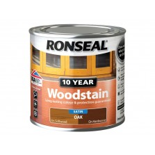 Ronseal 10 Year Woodstain Oak Satin 250ml