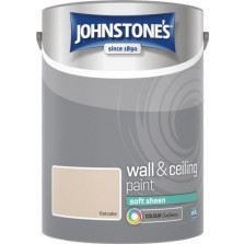 Johnstones Vinyl Emulsion Paint 5L Oatcake Soft Sheen