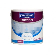 Johnstones One Coat Emulsion Paint 2.5L Pure Brilliant White (Matt)