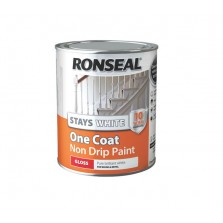 Ronseal Stays White One Coat Non Drip Gloss Paint 750ml White