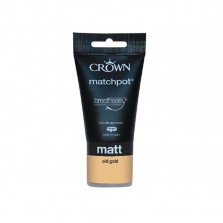 Crown Emulsion Paint Tester Pot 40ml Old Gold (Matt)