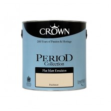 Crown Period Colours Emulsion Paint 2.5L Parchment (Matt)