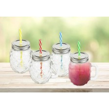 Pineapple Glass Mason Jar 450ml