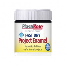 PlastiKote Enamel Paint 59ml Black Flat