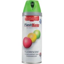 PlastiKote Spray Paint 400ml Fluorescent Green