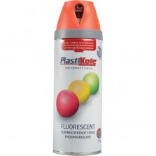 PlastiKote Spray Paint 400ml Fluorescent Orange