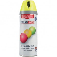 PlastiKote Spray Paint 400ml Fluorescent Yellow