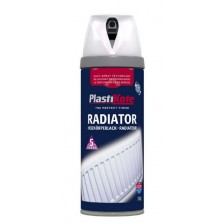 PlastiKote Radiator Spray Paint 400ml White Gloss