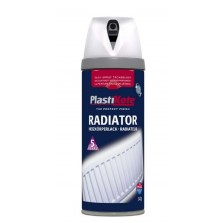 PlastiKote Radiator Spray Paint 400ml White Satin
