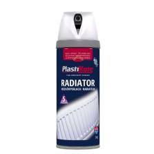 PlastiKote Radiator Spray Paint 400ml White Satin