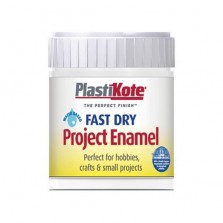 PlastiKote Enamel Paint 59ml White Flat