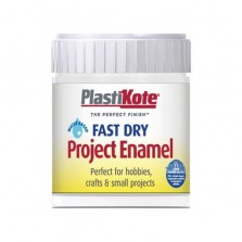 PlastiKote Enamel Paint 59ml White Gloss